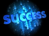 Success on Dark Digital Background.