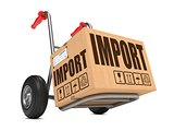 Import - Cardboard Box on Hand Truck.