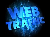 Web Traffic on Dark Digital Background.