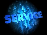 Service on Dark Digital Background.