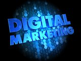 Digital Marketing on Dark Background.