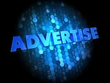 Advertise on Dark Digital Background.