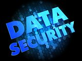 Data Security on Dark Digital Background.
