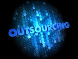 Outsourcing Concept on Digital Background.