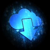 Cloud Icon on  Digital Background.