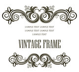 Vintage framing header and footer