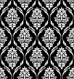 Damask-style design of floral arabesques