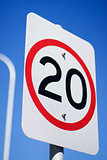 20Km Road Sign