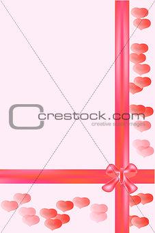 card heart & bow