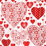 Grungy seamless valentine pattern