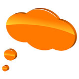 3d orange cloud