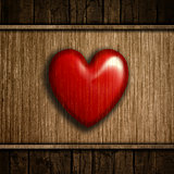Grunge wood heart background