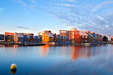 buildings on water at Reitdiephaven, Groningen