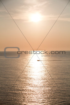 beautiful seascape sunset sunrise in summer