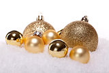 festive golden christmas decoration isolated