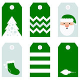 Cute modern Christmas holiday gift tags printables