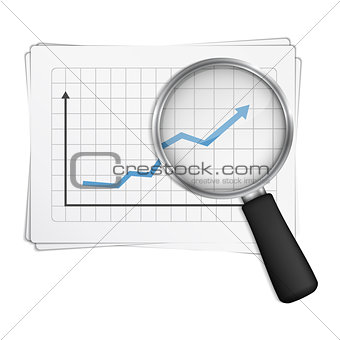Chart and Magnifying Glass