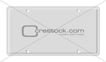 Blank car plate