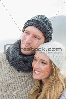 Close-up of a romantic young couple