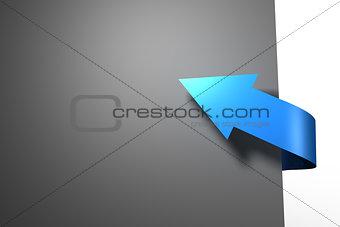 Blue arrow graphic