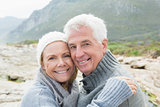 Close-up portrait of a romantic senior couple