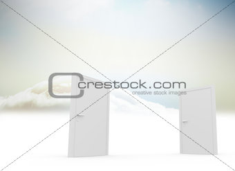 Closed doors in sky