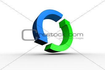 Blue and green arrow circle