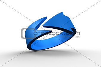 Blue arrow circle
