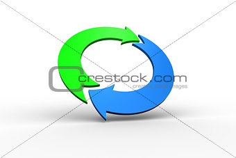 Blue and green arrow circle