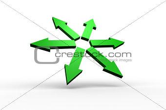 Green arrows forming circle