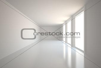 Bright hall with windows