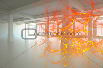 Abstract design in orange
