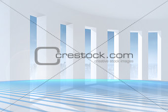 Abstract linear design in blue