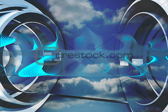 Abstract design in blue