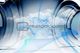 Abstract blue cloud design