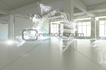 Abstract white design in room