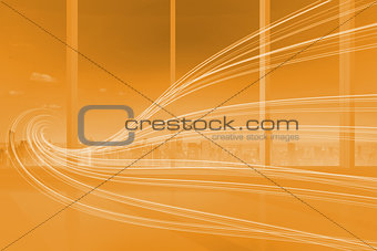 Orange abstract wave design