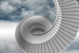 Winding staircase in the sky