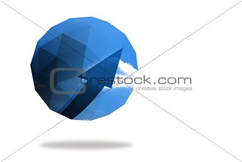 Blue arrow on abstract screen
