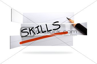 Skills in handwriting on abstract screen