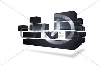 Clock graphic on abstract screen