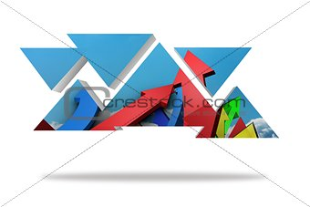 Arrows on abstract screen