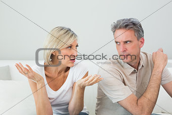Couple having a fight at home