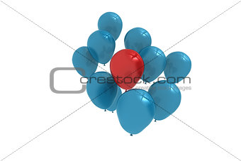 Blue and red balloons