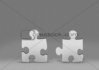 Grey jigsaw pieces