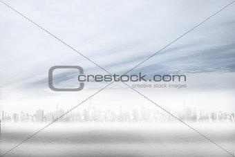 City on the horizon