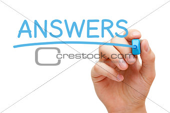 Answers Blue Marker