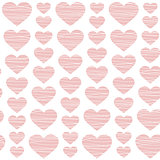 pink hearts - seamless pattern