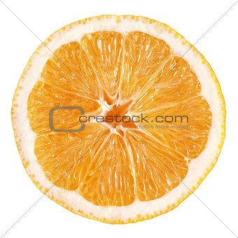 Slice of orange fruit
