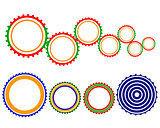 multicolored gears
